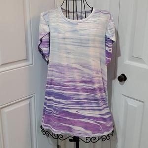 NWT Lularoe Olive Purple Tye Dyed Top.